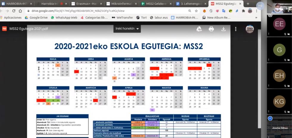 Harrobia Ikastolako aurkezpen eguna, 2020-2021 ikasturtea