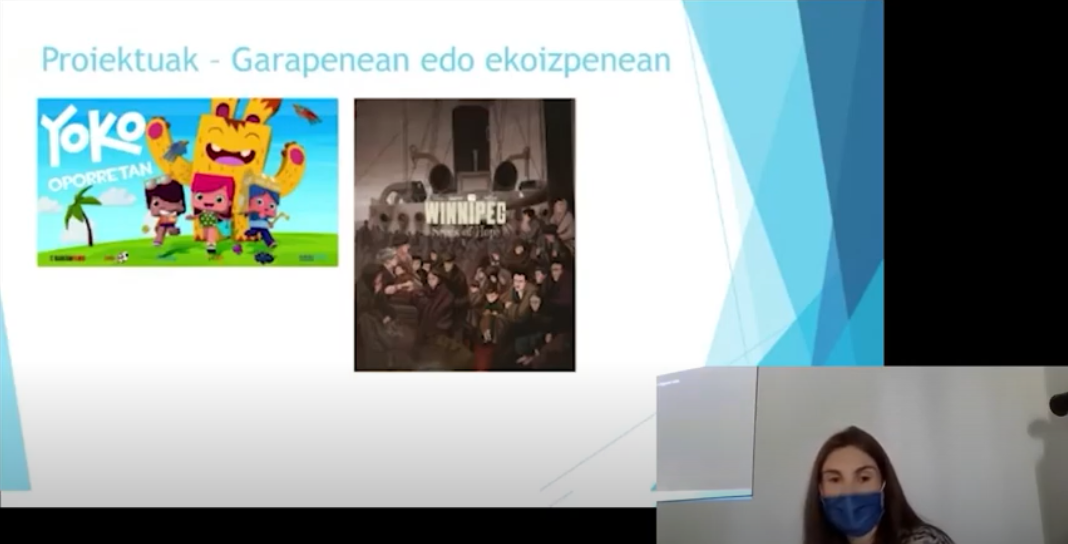 Euskararen egunean, 3Dko ikasleek Dibulitooneko Jone Landaluzeren hitzaldian parte hartu zuten